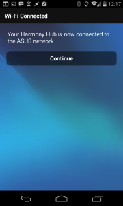 WiFi connection established via app.