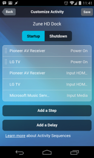 Activity details in app